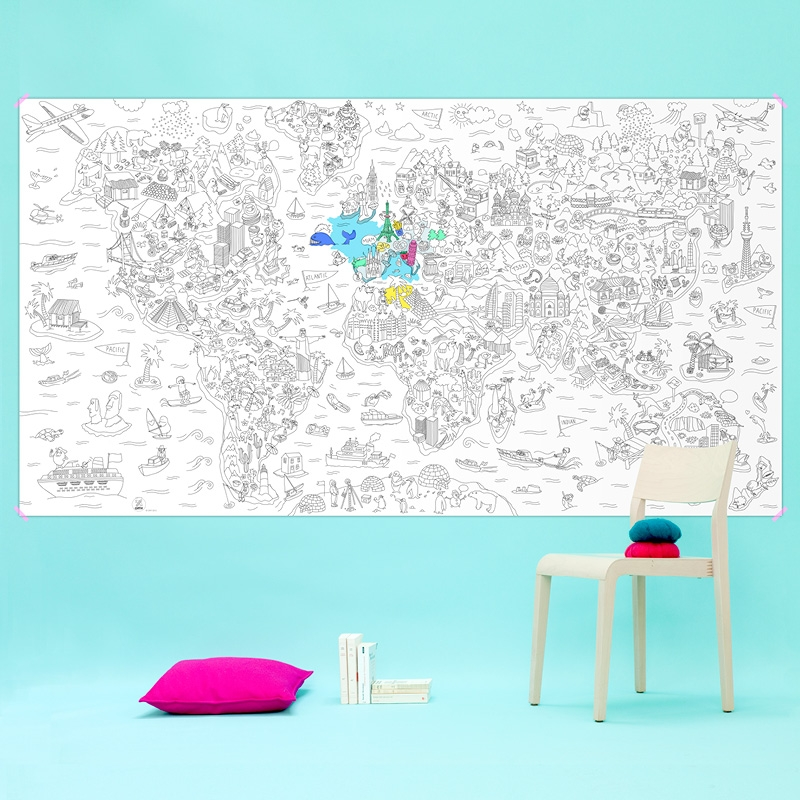 GIANT COLORING PAGE ATLAS OMY OMY5GC-AT : CONCEPT STORE STREET ART ...