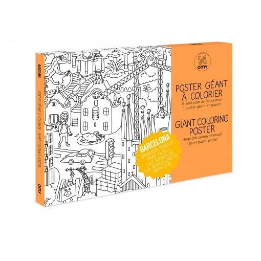 COLORING POSTER BARCELONA OMY OMY5PC-BA : CONCEPT STORE STREET ART ...