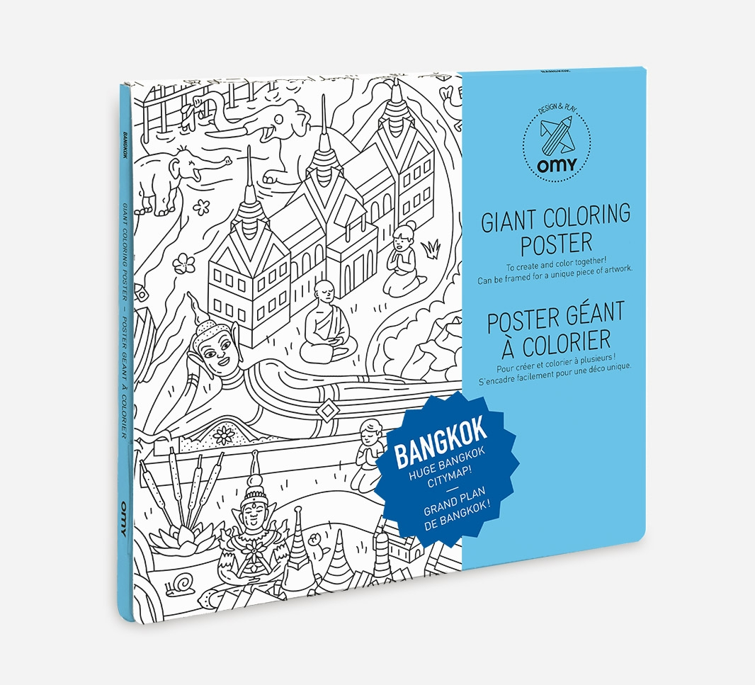 coloring poster bangkok omy omy5pc bg concept store. Black Bedroom Furniture Sets. Home Design Ideas