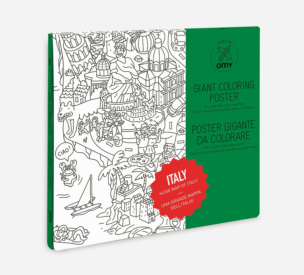 COLORING POSTER ITALY OMY OMY5PC-IT : CONCEPT STORE STREET ART ...